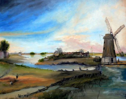 Сергей Николаевич Ходоренко-Затонский. Dutch landscape