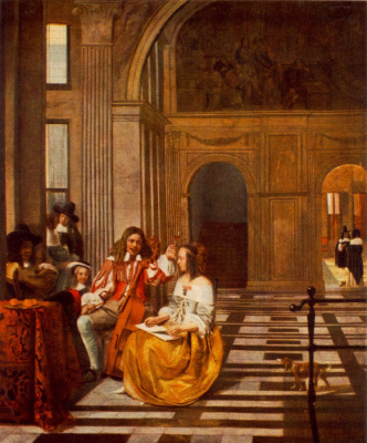 Pieter de Hooch. The company composes musical works