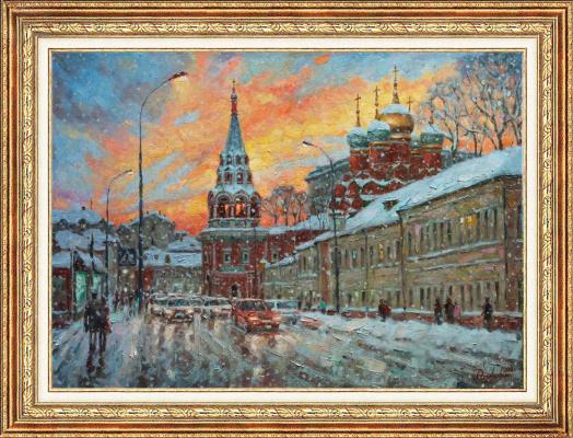 Igor Razzhivin. The beauty of the winter sunset