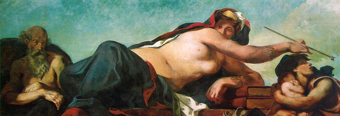 Eugene Delacroix. Justice. (detail of a mural of the Palace of the Bourbons in Paris)