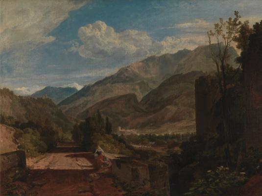 Joseph Mallord William Turner. Castle Saint-Michel in Bonneville, Savoy
