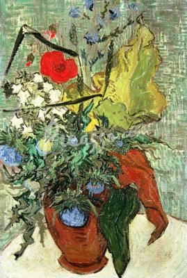 Винсент Ван Гог. Полевые цветы и чертополох в вазе