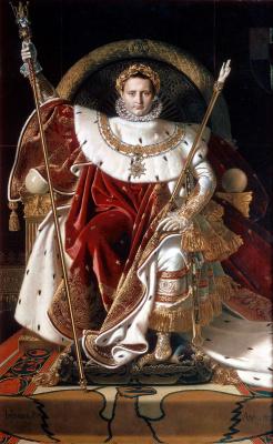 Jean Auguste Dominique Ingres. Portrait Of Napoleon I