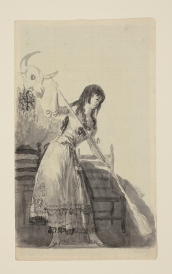 Francisco Goya. Young woman sweeping