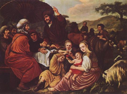 Ян Викторс. Прощание Моисея с Иофором