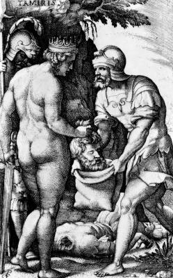 Георг Пенц. Томирис с головой Кира