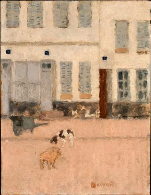 Pierre Bonnard. Deserted street and dog