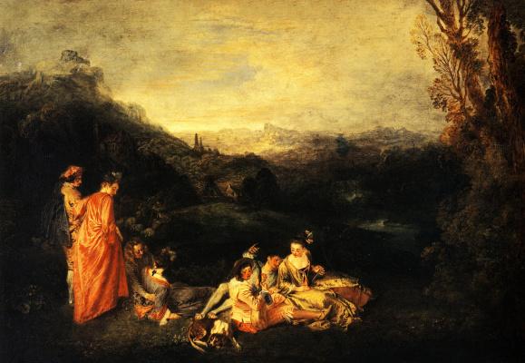 Antoine Watteau. Gentle love
