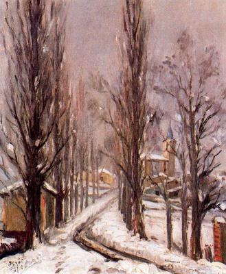 Иисус Апелланиц. Зимний пейзаж