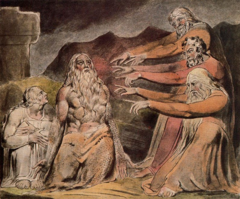 William Blake. The Book Of Job. Job, condemns the friends