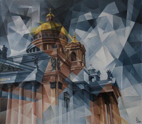 Vasily Krotkov. Black dog Petersburg. Kubofuturizm