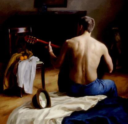 Стивен Дж Левин. Игра на гитаре