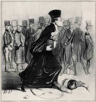 Honore Daumier. The less practice you have, the harder practices