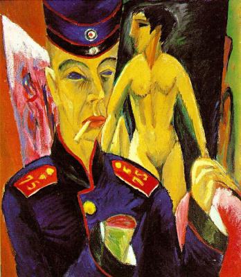 Эрнст Людвиг Кирхнер. Автопортрет в образе солдата