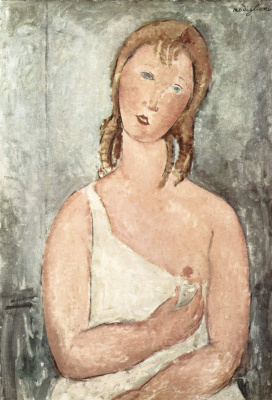 Amedeo Modigliani. Girl in a chemise