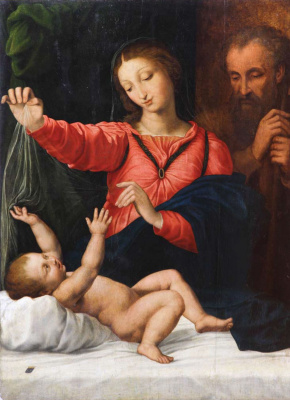 Masterpieces of unknown artists. The Holy family (the Madonna of Tagil)