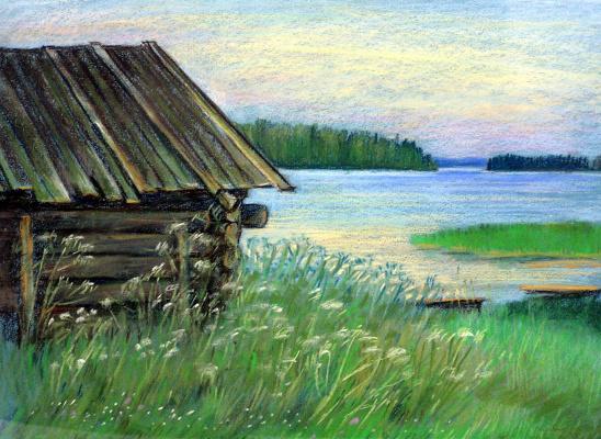 Irina Soboleva. Old bath house in the Hill