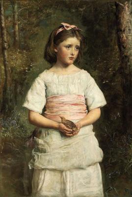 John Everett Millais. Fallen from the nest