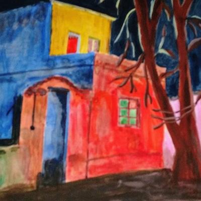 Gulnara Matyukhina. House in the night