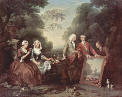 William Hogarth. Family Fontaine