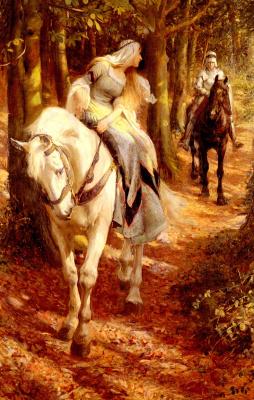 Ровланд Уилрайт. Белый конь