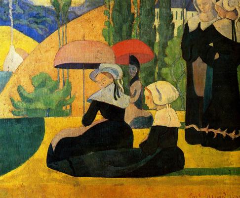 Эмиль Бернар. Девушки под зонтами
