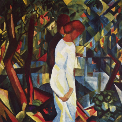 August Macke. Couple in the woods