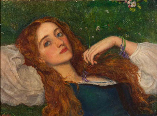 Arthur Hughes. In grass