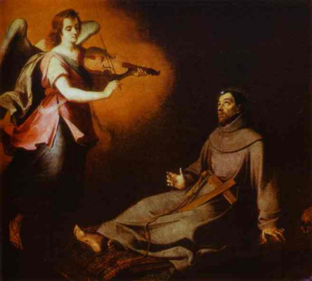 Bartolomé Esteban Murillo. The vision of St. Francis