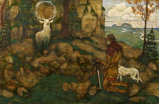 Egon Schiele. The vision of St. Hubert