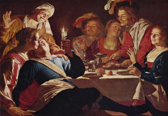 Gerard van Honthorst. The prodigal son