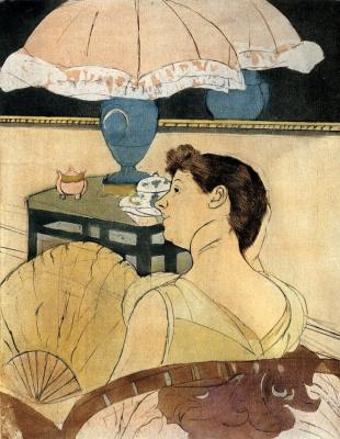 Mary Cassatt. Lamp