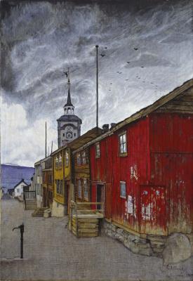 Harald Oskar Sohlberg. Street in Røros