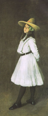 William Merritt Chase. Dorothy in the hat
