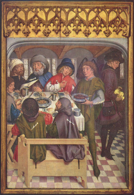 Friedrich Heerlin. Meal of pilgrims to Compostela
