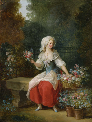 Jean-Frederick Schall. Young flower girl