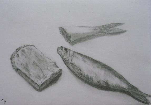 Сергей Николаевич Ходоренко-Затонский. Fish and bread