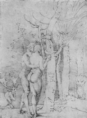 Albrecht Durer. Adam and eve