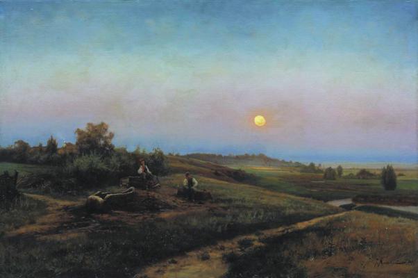 Joseph Evstafievich Krachkovsky. Ukrainian evening. State Art Museum of Altai Krai, Barnaul.