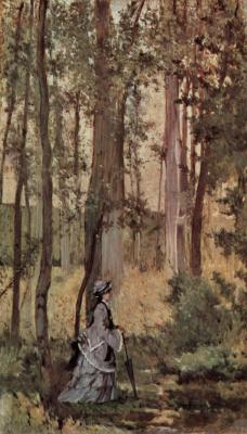 Джованни Фаттори. Дама в лесу
