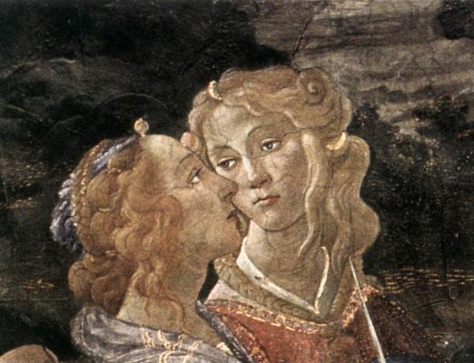 Sandro Botticelli. The three temptations of Christ (detail)