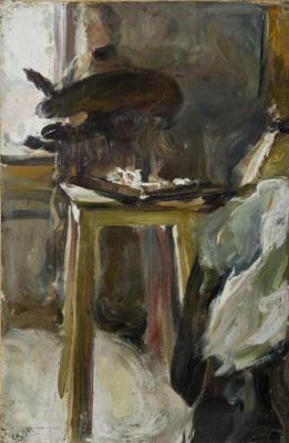 Семен Гавриилович Никифоров. Художница за работой. Портрет Ольги Николаевны Натальиной, жены художника