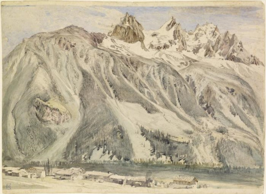 John Ruskin. Chamonix mountain peaks