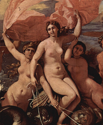 Nicola Poussin. The triumphal procession of Neptune. Detail