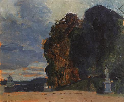 Constantin Somov. In the Versailles Park