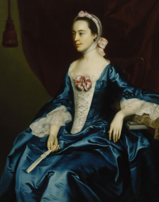 John Singleton Copley. Portrait of a lady in a blue dress
