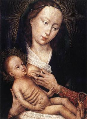 Rogier van der Weyden. Portrait diptych of Jean de Gros. The left part