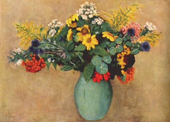 Odilon Redon. Flowers in a green vase