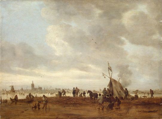 Ян ван Гойен. Зимний вид в окрестностях Гааги