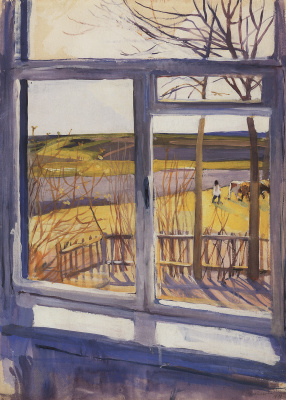 Zinaida Serebryakova. The view from the window. Boring.